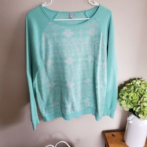 Teal/mint pullover